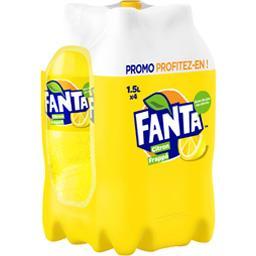 Soda citron frappé avec du jus de citron