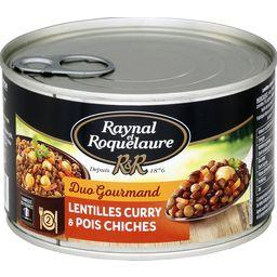 Duo Gourmand - Lentilles curry & pois chiches