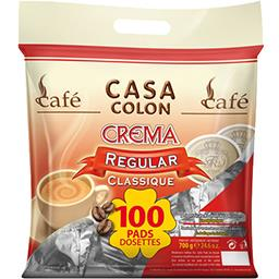 Dosettes de café moulu Crema classique
