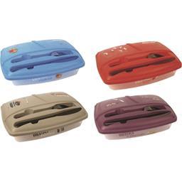 Lunch Box illustrée avec couverts M48 coloris assort...