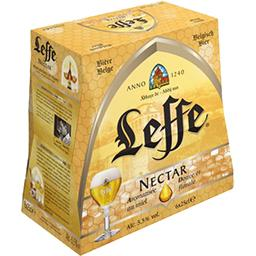 Leffe Leffe Bière Nectar aromatisée au miel les 6 bouteilles de 25 cl