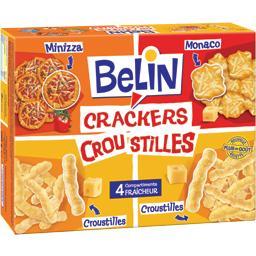 Crackers belin & croustilles, maïs soufflé fromage