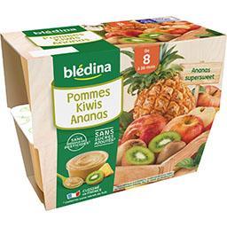 Desserts pommes kiwis ananas, de 8 à 36 mois