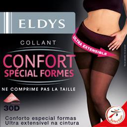 Collant confort spécial formes 30D, semi opaque,T5/T...