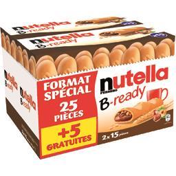 Nutella Biscuits B-ready le lot de 2 boites de 25 pièces - 573 g