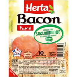 Herta Bacon fumé sans antibiotique la barquette de 10 tranches - 100 g