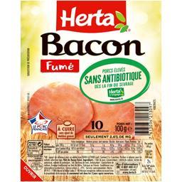 Herta Herta Bacon fumé sans antibiotique la barquette de 10 tranches - 100g