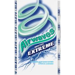 Airwaves Airwaves Chewing-gum Extrême menthol sans sucres les 5 paquets de 14 g