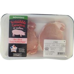 Notre Sélection Pavés de porc sans os sans antibiotiques La barquette de 2 - 200g
