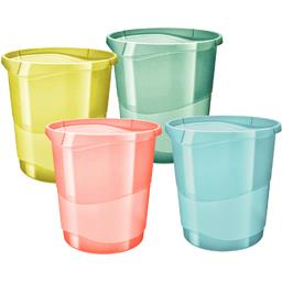 Corbeille papier Colour Ice coloris assortis