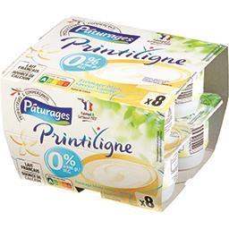 Printiligne - Fromage blanc saveur vanille 0% MG