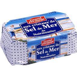 Beurre aux cristaux de sel de mer de Noirmoutier