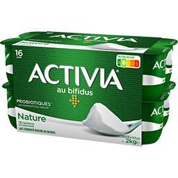 Danone Activia Lait fermenté nature au bifidus les 16 pots de 125 g