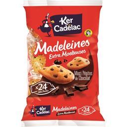 Madeleines maxi pépites chocolat extra moelleuses