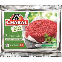 Steaks hachés BIO façon bouchère 15% MG