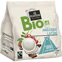 Dosettes de café moulu Amérique Latine BIO