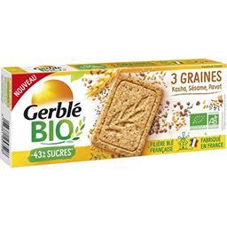 Gerblé Gerble Bio Sablés aux 3 graines sésame, kasha et pavot le paquet de 130g