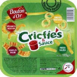 Biscuits apéritifs Cricfies & Sauce