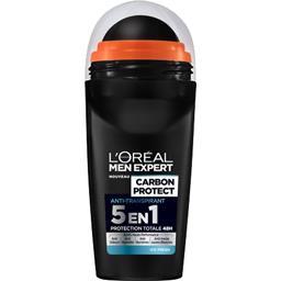 L'Oréal Men Expert de L'Oréal Carbon Protect - Déodorant 5 en 1 Ice Fresh le roll-on de 50 ml