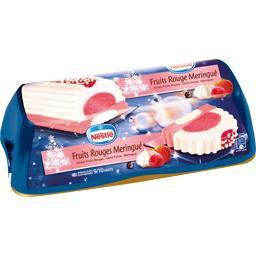 Bûche glacée fruits rouges meringués