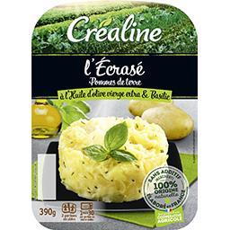 Créaline Créaline L'Ecrasé pommes de terre à l'huile d'olive et basilic la barquette de 390 g