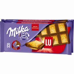 Milka Milka Chocolat au lait & biscuit LU les 2 tablettes de 87 g