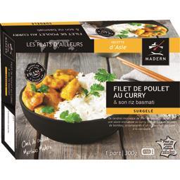 Filet de poulet au curry & son riz basmati