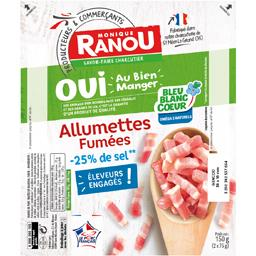 Monique Ranou Allumettes fumées les 2 barquettes de 75 g