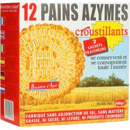 Pains azymes croustillants