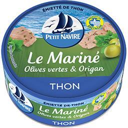 Petit Navire Petit navire Le Mariné - Emietté de thon olives vertes & origan la boite de 110 g