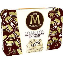 Magnum Magnum Glace chocolat blanc & cookies la boite de 4 bâtonnets - 360 ml