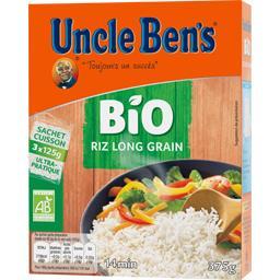 Uncle Ben's Uncle Ben's BIO - Riz long grain les 3 sachets de 125 g