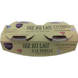 Les Desserts de Jo Riz au lait à la vanille façon Teurgoule les 2 pots de 110 g