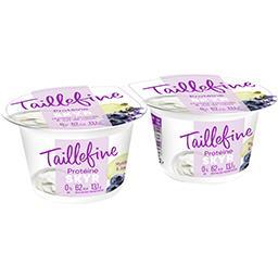 Danone Taillefine Spécialité laitière Skyr myrtille lavande & jus de raisin les 2 pots de 145 g