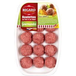 Bigard Bigard Boulettes Gourmandes au porc & au bœuf la barquette de 15 - 375 g