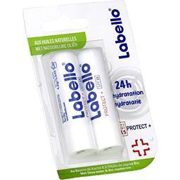 Labello Labello Soin des lèvres Protect + aux huiles naturelles les 2 tubes de 4,8 g