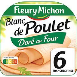 Fleury Michon Fleury Michon Blanc de poulet doré au four la barquette de 6 tranches - 180 g
