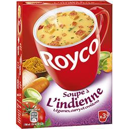 Royco Royco Soupe à l'indienne légumes, curry et croûtons la boite de 3 sachets - 76,5 g