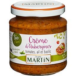 Crème d'aubergines tomates ail et basilic BIO