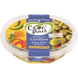 Croc' frais Croc'frais Olives entières à la Castillane, relevé la barquette de 250 g