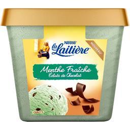 Crème glacée menthe fraîche éclats de chocolat