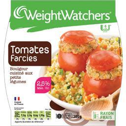 Tomates farcies boulgour cuisiné aux petits légumes