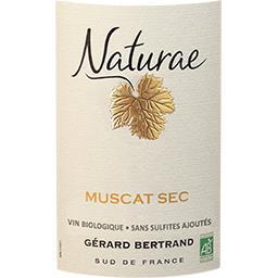 Vin de Pays d'Oc Muscat sec Naturae BIO, vin blanc
