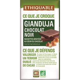 Ethiquable Ethiquable Chocolat noir Gianduja noisettes broyées BIO la tablette de 100 g