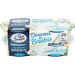 Le Petit Basque Le Petit Basque Spécialité laitière Douceur de Brebis les 4 pots de 100 g