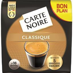 Carte Noire Carte Noire Dosettes de café classique le paquet de 36 - 250 g