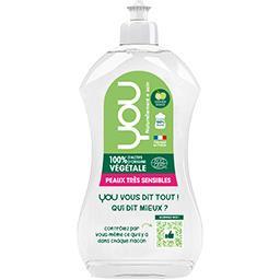 You You Liquide vaisselle 100% d'actifs d'origine amande douce le flacon de 500 ml