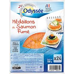 Médaillons de saumon fumé