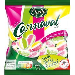 Bonbons acidulés Carnaval goût Tutti Frutti
