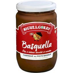 Miguelgorry Pâte à tartiner Basquella chocolat et noisettes le pot de 650 g